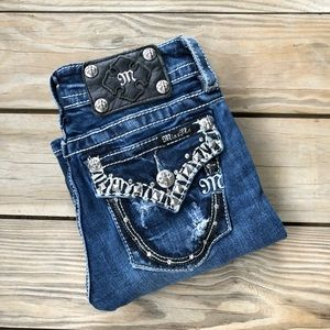 Miss Me Signature Boot Jeans Flap Back Pockets